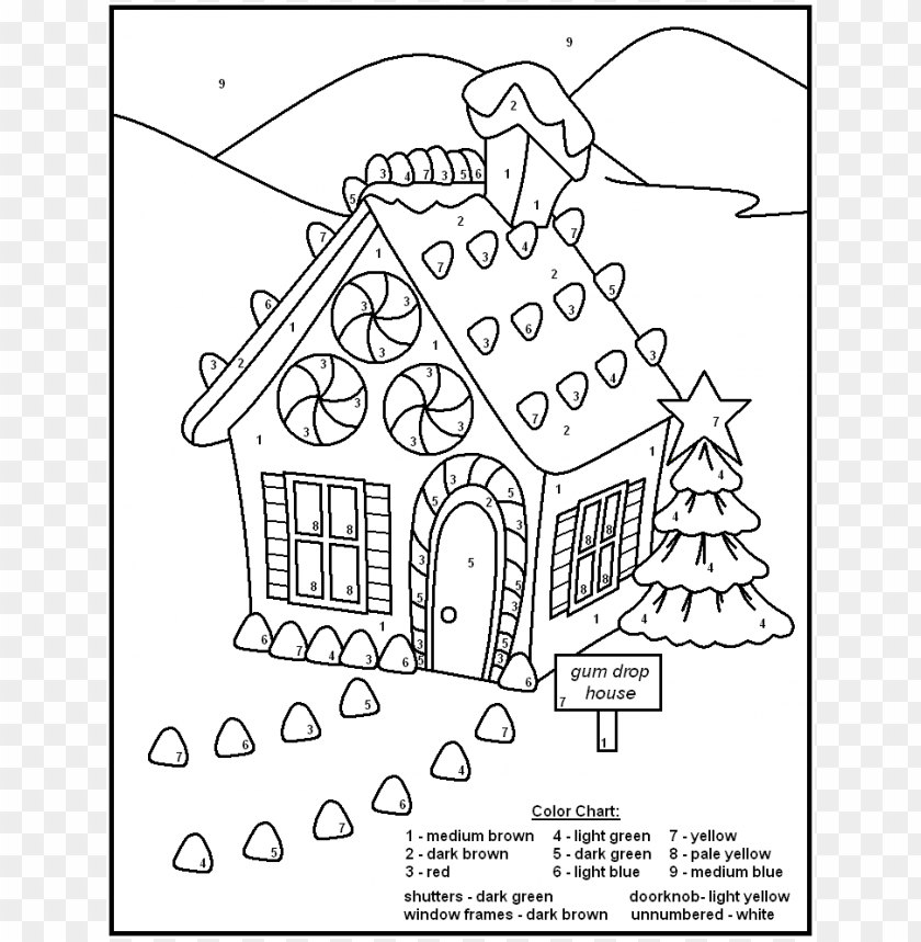 Coloring Pages For Teenagers Difficult Color By Number Png Image With Transparent Background Toppng