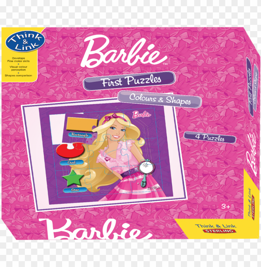 free PNG colours and shapes - sterling first puzzle - barbie - colours and shapes, PNG image with transparent background PNG images transparent