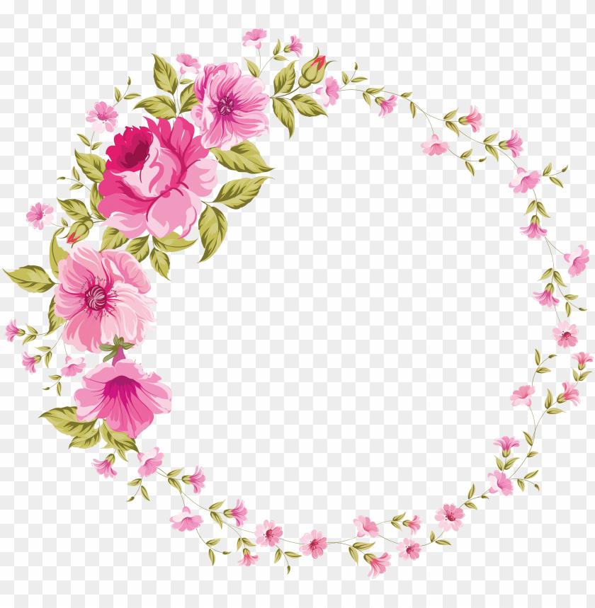 free PNG com / floral frame - tags floral PNG image with transparent background PNG images transparent