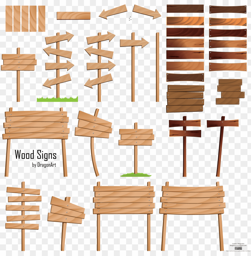 free PNG com free vector wood signs vector set - wooden road sign vector PNG image with transparent background PNG images transparent