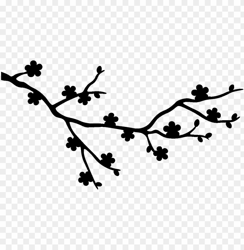 Com The Branch Of Cherry Blossoms Id Cherry Blossom Silhouette Png Image With Transparent Background Toppng