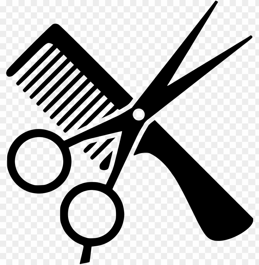 Comb Cosmetologist Beauty Parlour Hair Comb And Scissors Clipart Png Image With Transparent Background Toppng