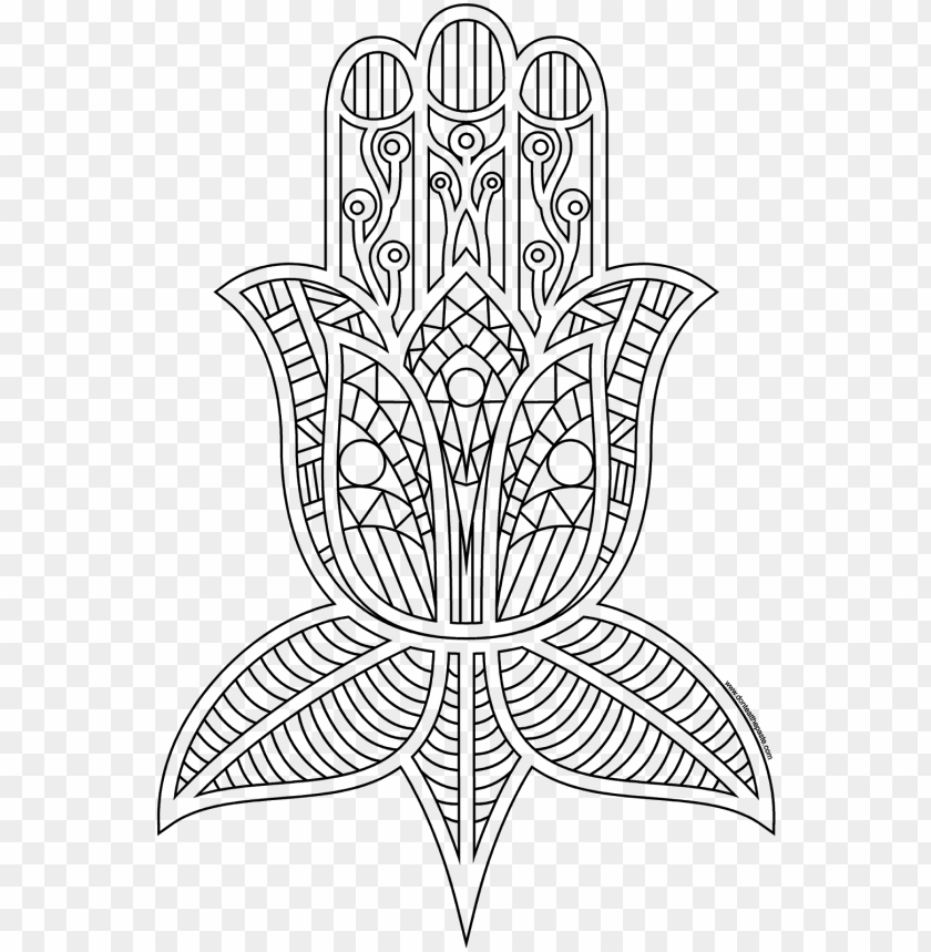 free PNG comfortable hamsa coloring pages printable coloring - hamsa coloring pages PNG image with transparent background PNG images transparent