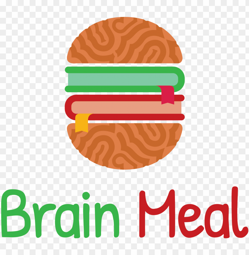 free PNG comic logo featuring a brain and between two books - dessert PNG image with transparent background PNG images transparent