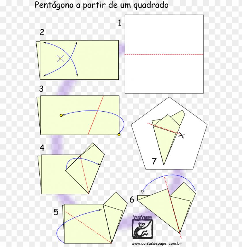 free PNG como fazer um pentagono origami PNG image with transparent background PNG images transparent