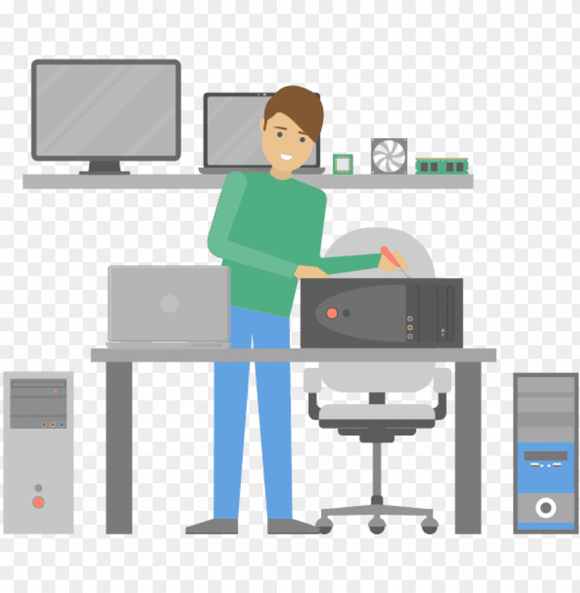 free PNG computer repair technician PNG image with transparent background PNG images transparent