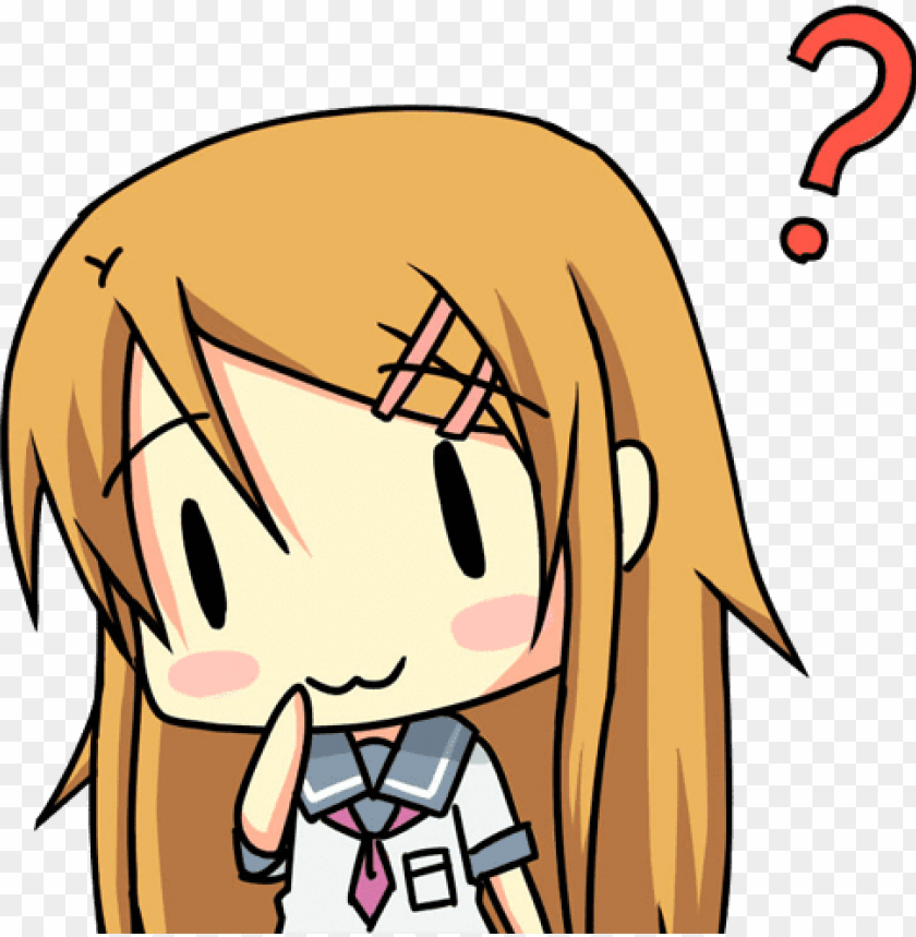 Confused Anime Png Anime Question Png Gif Png Image With Transparent Background Toppng