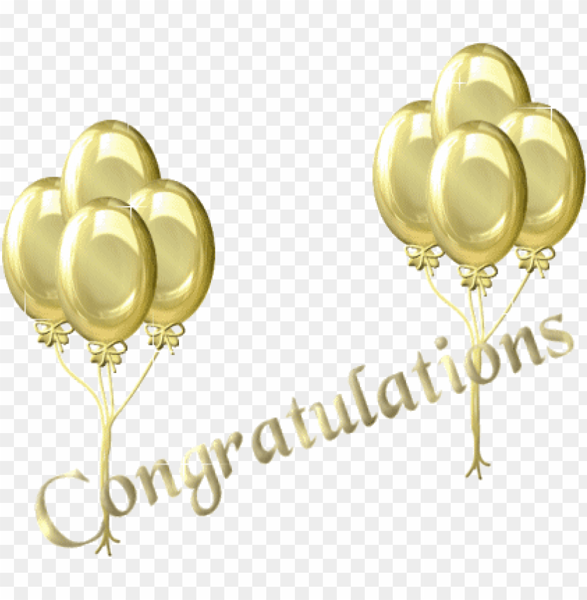 free PNG congratulations - gold congratulations balloons PNG image with transparent background PNG images transparent