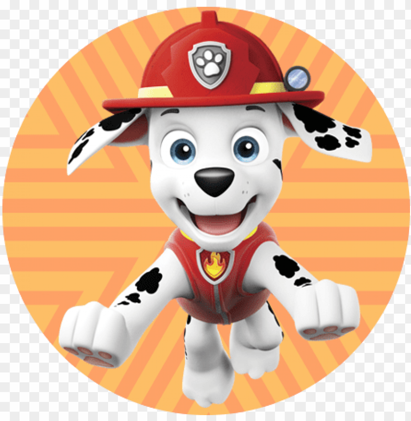 free PNG conoce a marshall de la patrulla canina - marshall paw patrol circulo PNG image with transparent background PNG images transparent