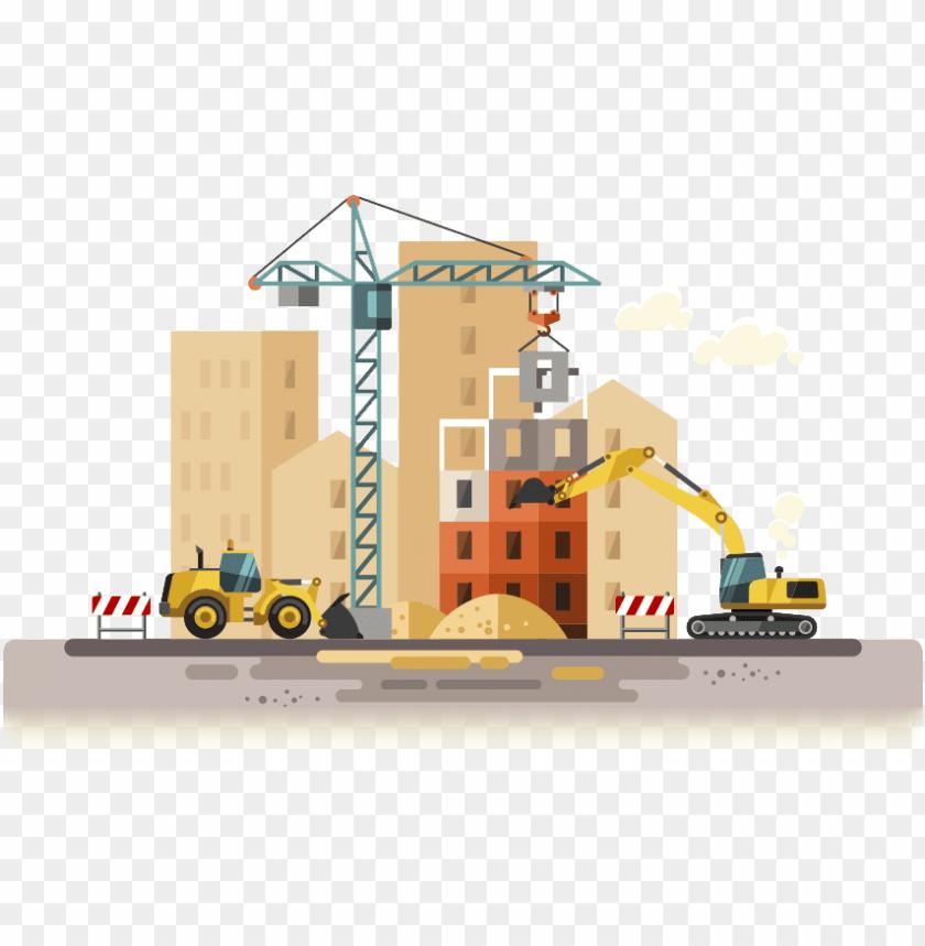 free PNG construction digital marketing - building construction vector flat PNG image with transparent background PNG images transparent