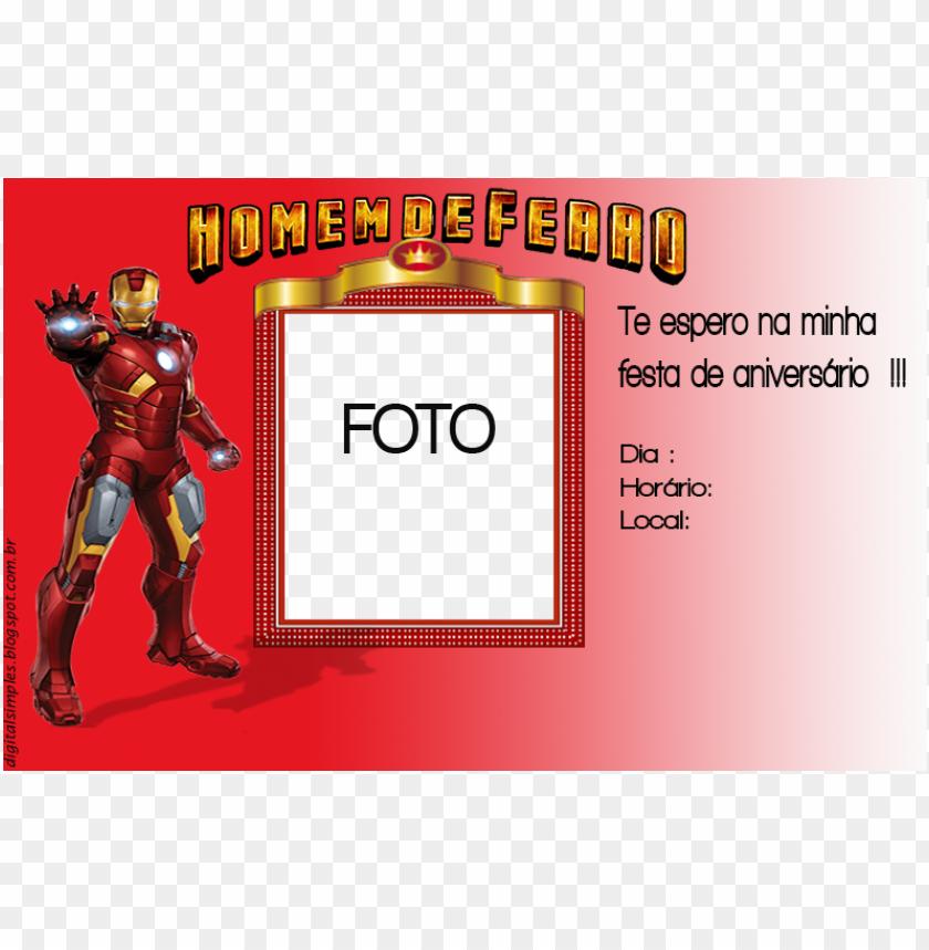 free PNG convite homem de ferro png - invitatio PNG image with transparent background PNG images transparent