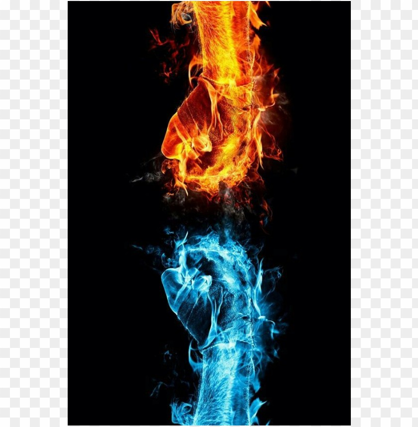 free PNG Cool pictures hand fire and ice water PNG images transparent