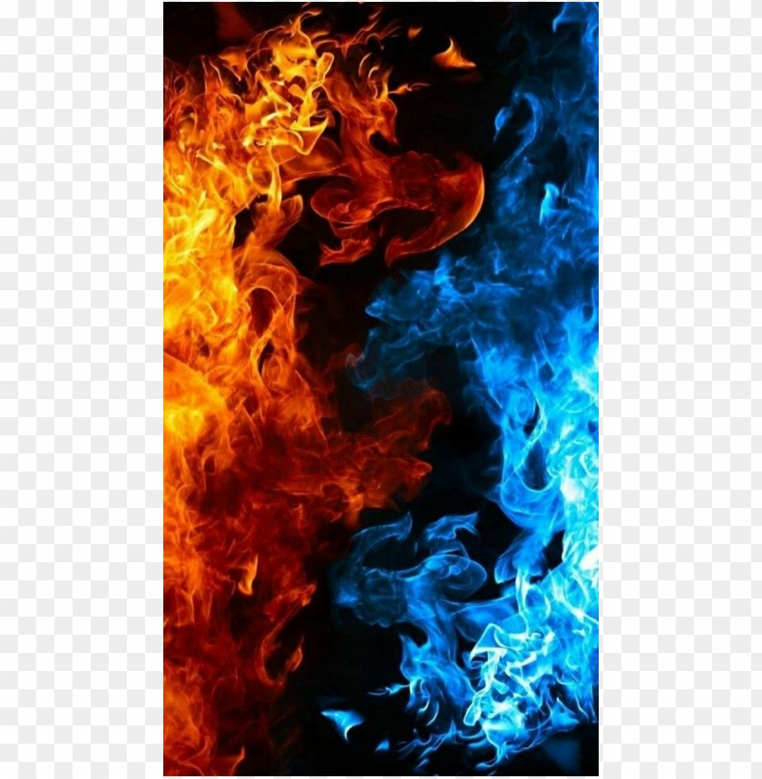 free PNG Cool photo background ice water and fire PNG images transparent