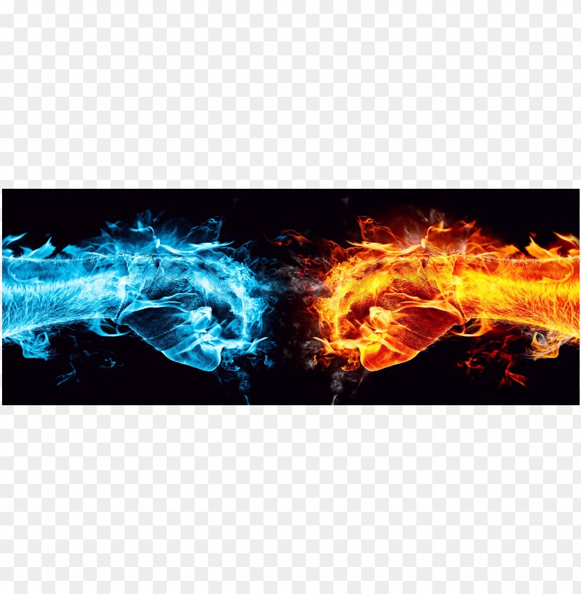 free PNG Cool Images hand fire and ice water PNG images transparent
