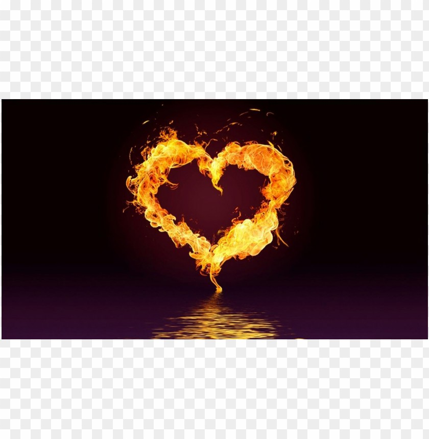 free PNG Cool photo heart fire PNG images transparent