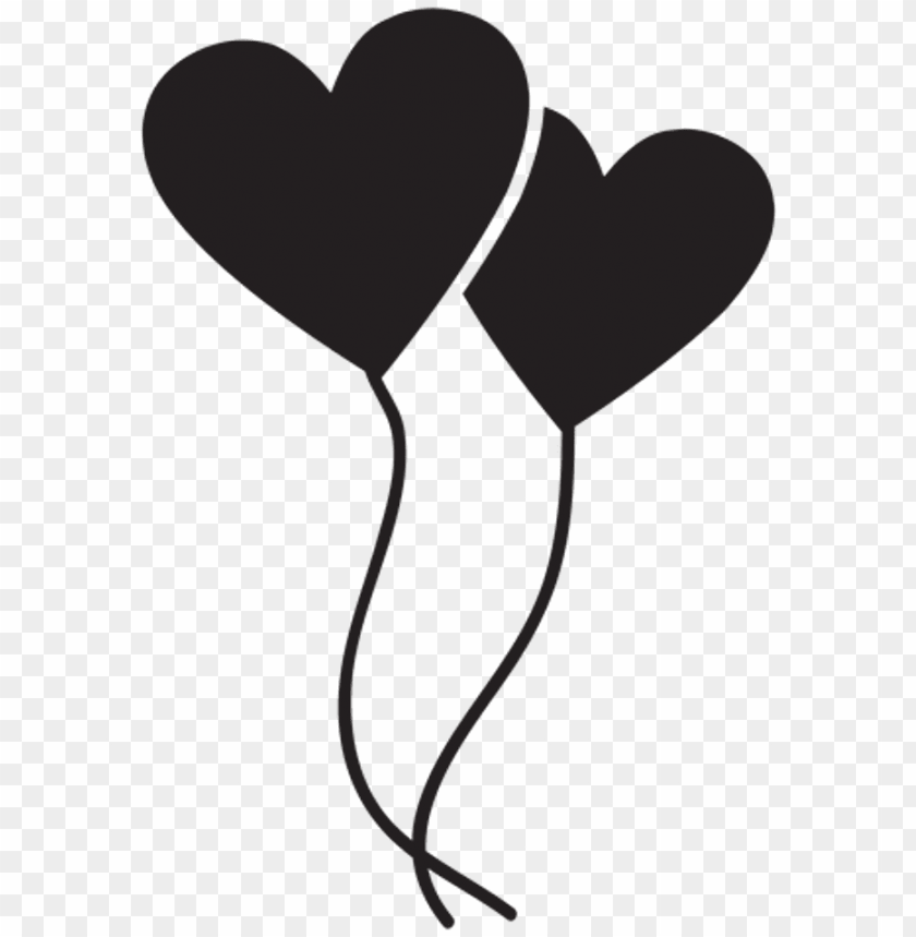 free PNG coracao black balloon love like - flat love balloon PNG image with transparent background PNG images transparent