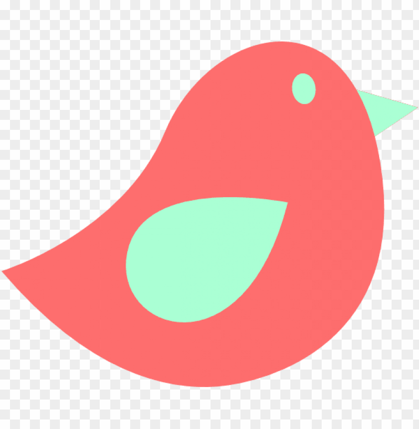 free PNG coral and mint bird clip art - mint green and coral cliparts PNG image with transparent background PNG images transparent