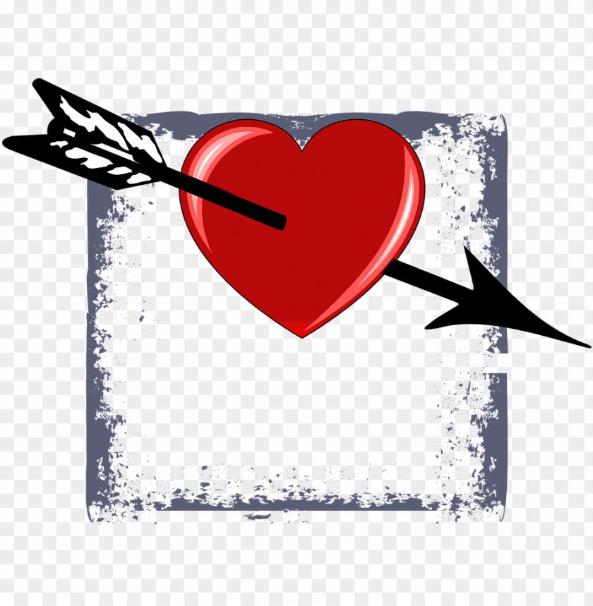 free PNG corazon de san valentin con flecha PNG image with transparent background PNG images transparent
