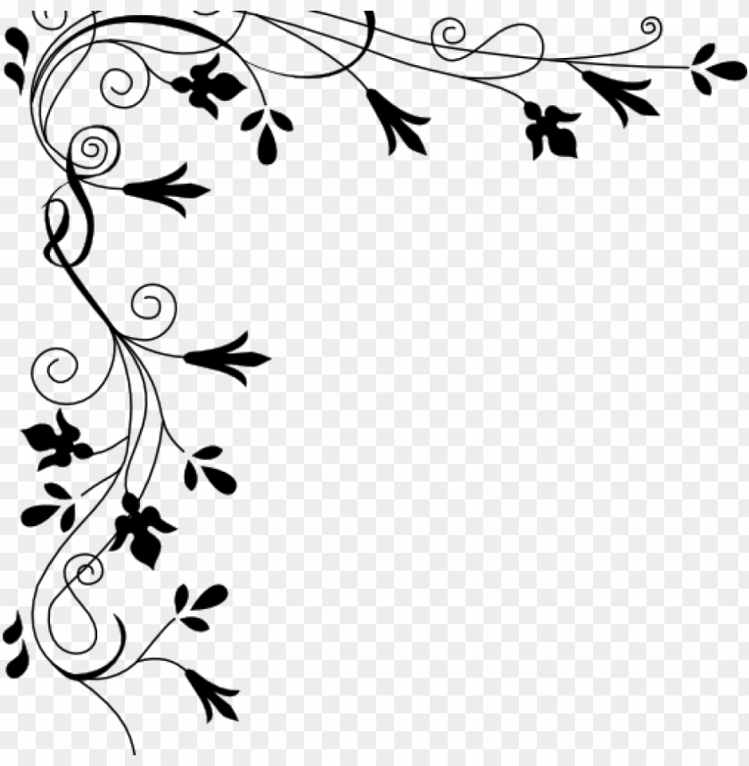 free PNG corner page borders corner page borders decorative - floral page border PNG image with transparent background PNG images transparent
