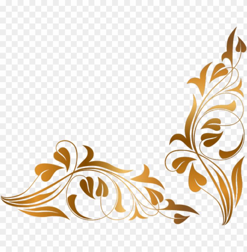 free PNG corner scroll designs free download best corner scroll - floral PNG image with transparent background PNG images transparent