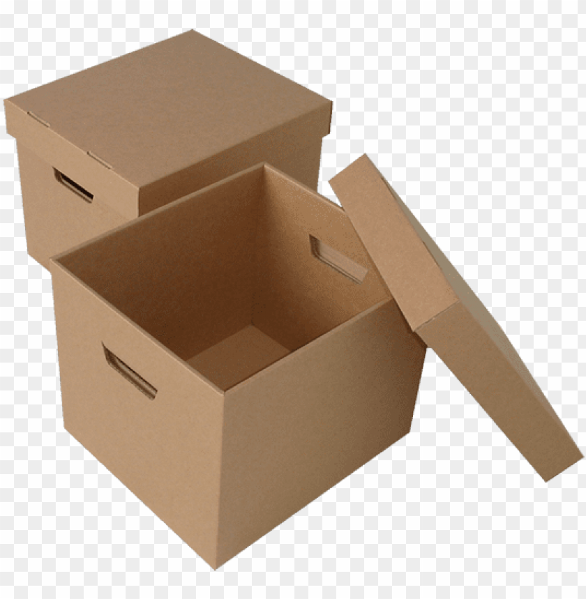 free PNG corrugated boxes die cut boxes shipping boxes - cardboard storage boxes PNG image with transparent background PNG images transparent