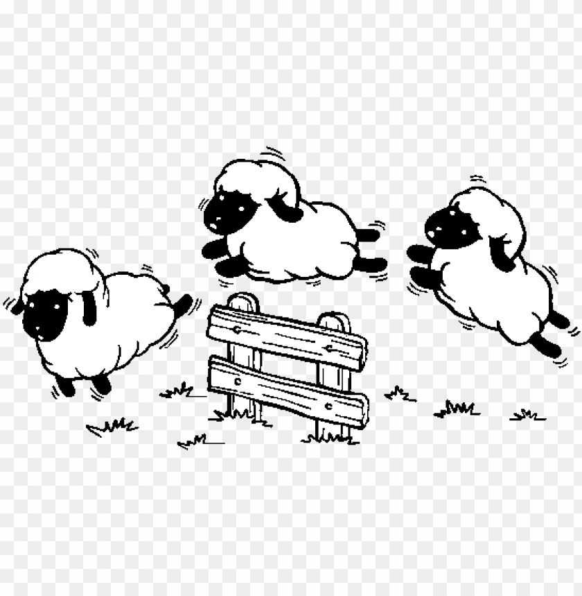 count sheep coloring page - jumping sheep clipart PNG image ...
