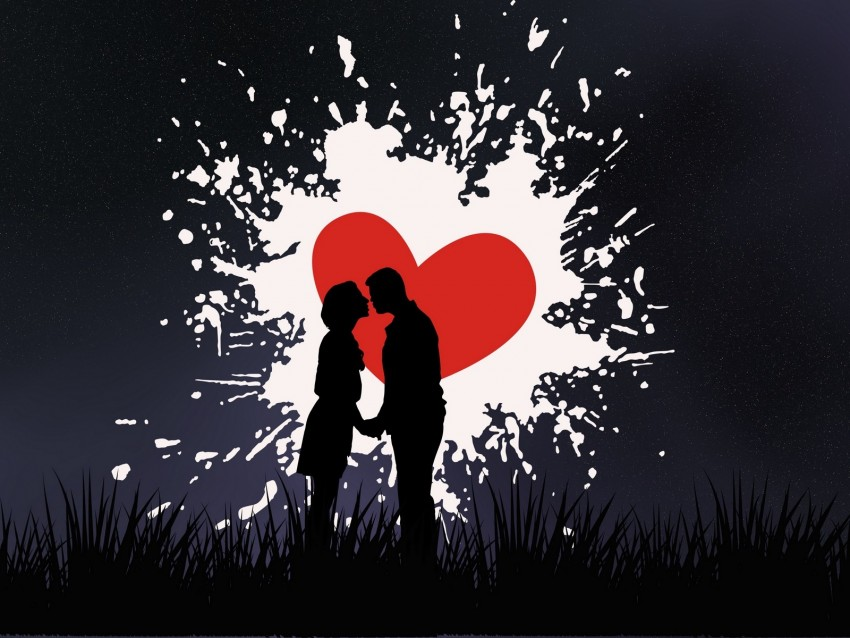 free PNG couple, kiss, love, heart, silhouettes background PNG images transparent