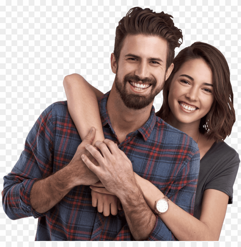 free PNG couple posing and smiling flipped - love PNG image with transparent background PNG images transparent