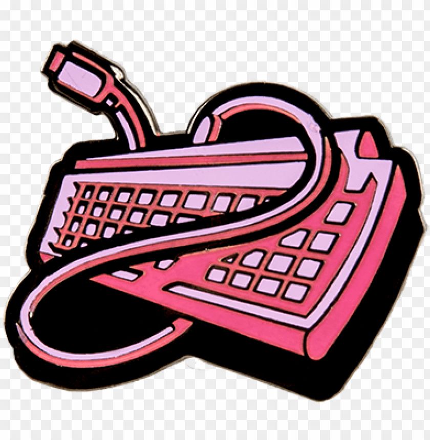 free PNG cow - cow chop pink keyboard PNG image with transparent background PNG images transparent