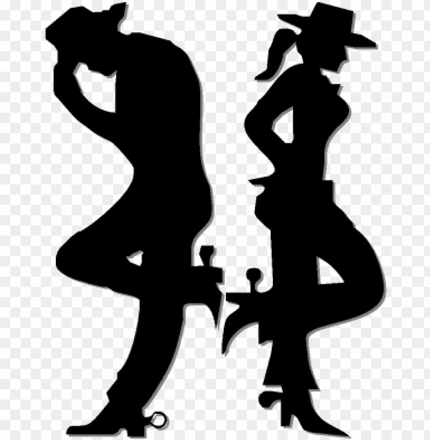 Cowboy And Cowgirl Top Image Cowboy E Cowgirls Desenho Png Image