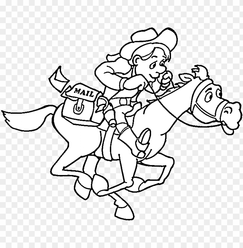 Cowboy Coloring Pages Png Image With Transparent Background