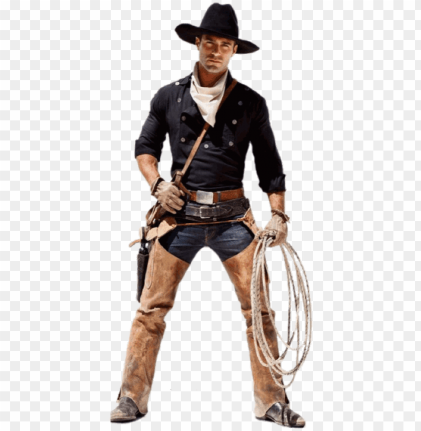 free PNG cowboy standin cardboard cutout standup PNG image with transparent background PNG images transparent