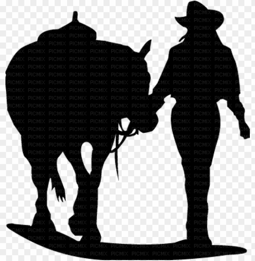 Cowgirl Horse Silhouette Cowgirl U Png Image With Transparent