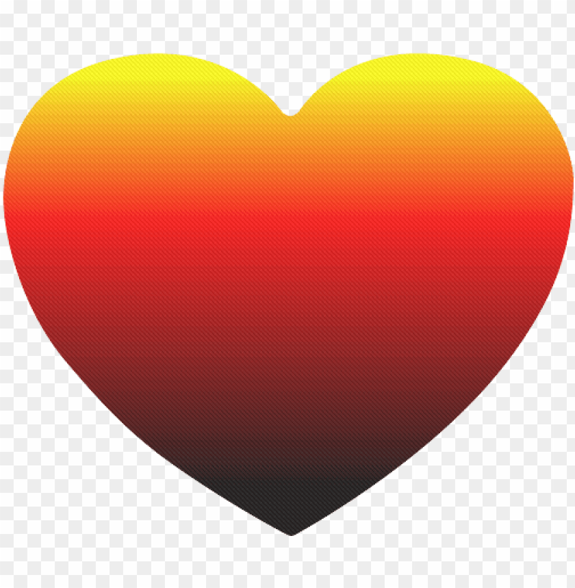 free PNG crayon box ombre rainbow heart-shaped mousepad - sunset ombre heart PNG image with transparent background PNG images transparent