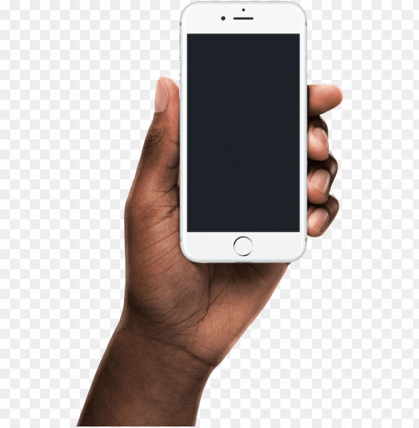 free PNG create new mockup using black hand holding iphone - black hand holding iphone PNG image with transparent background PNG images transparent