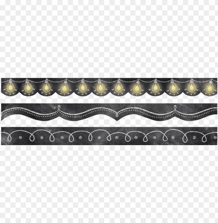 free PNG creative teaching press® chalk it up border bites pack - chalkboard trim variety pack, price/pack of 6 PNG image with transparent background PNG images transparent