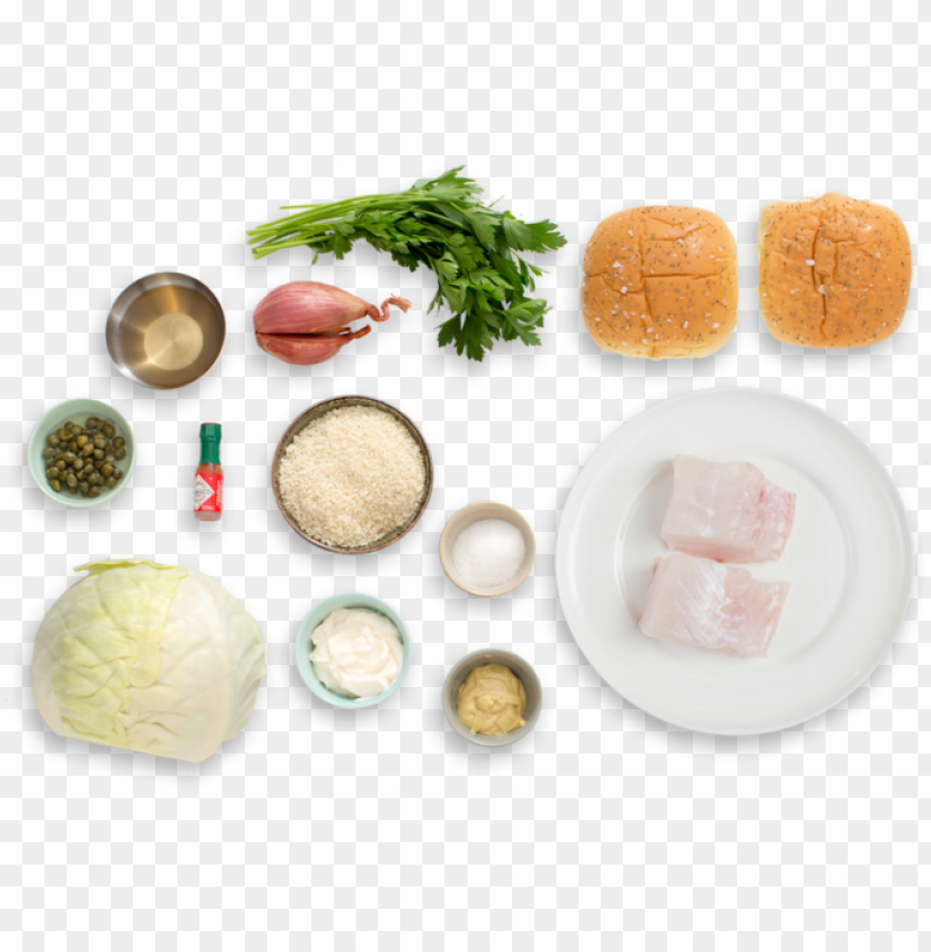 free PNG crispy fish sandwiches with coleslaw & homemade tartar - tartar sauce top view PNG image with transparent background PNG images transparent