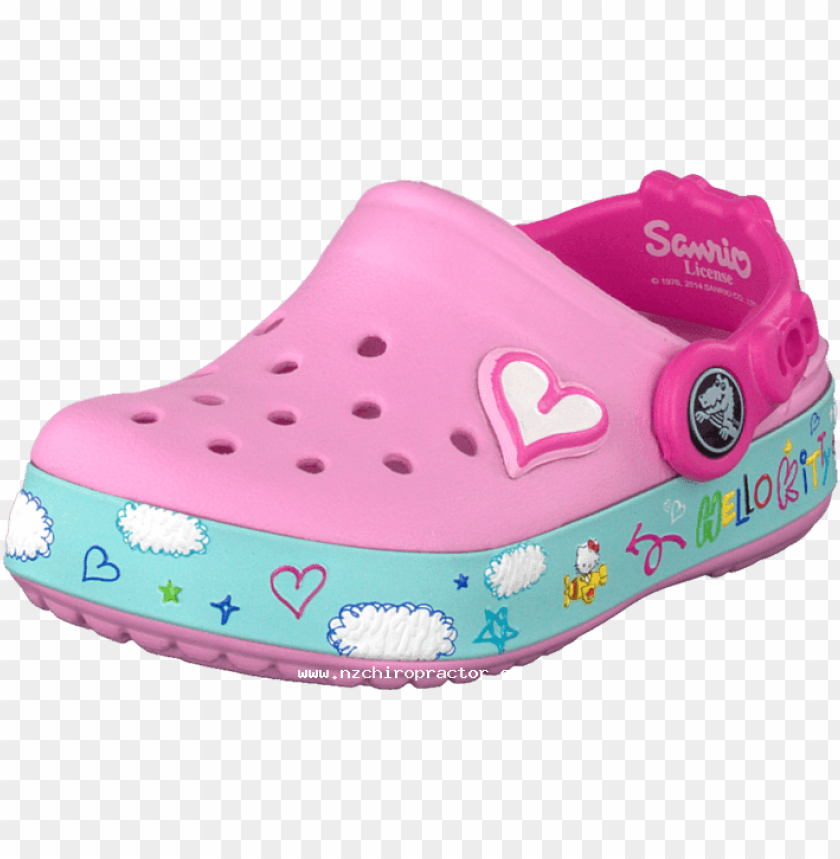 free PNG crocs cb hello kitty plane clog eu carnation 46734-00 - sandal PNG image with transparent background PNG images transparent