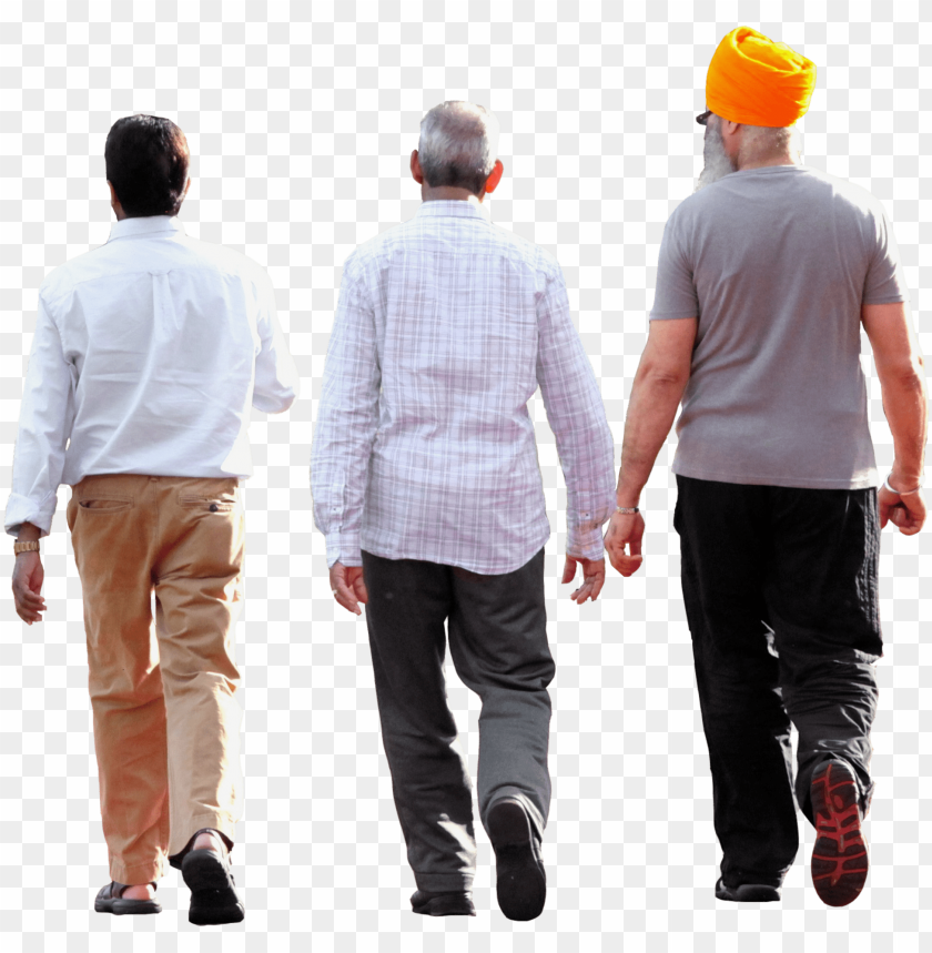 free PNG cropped three men walking - group people walking PNG image with transparent background PNG images transparent