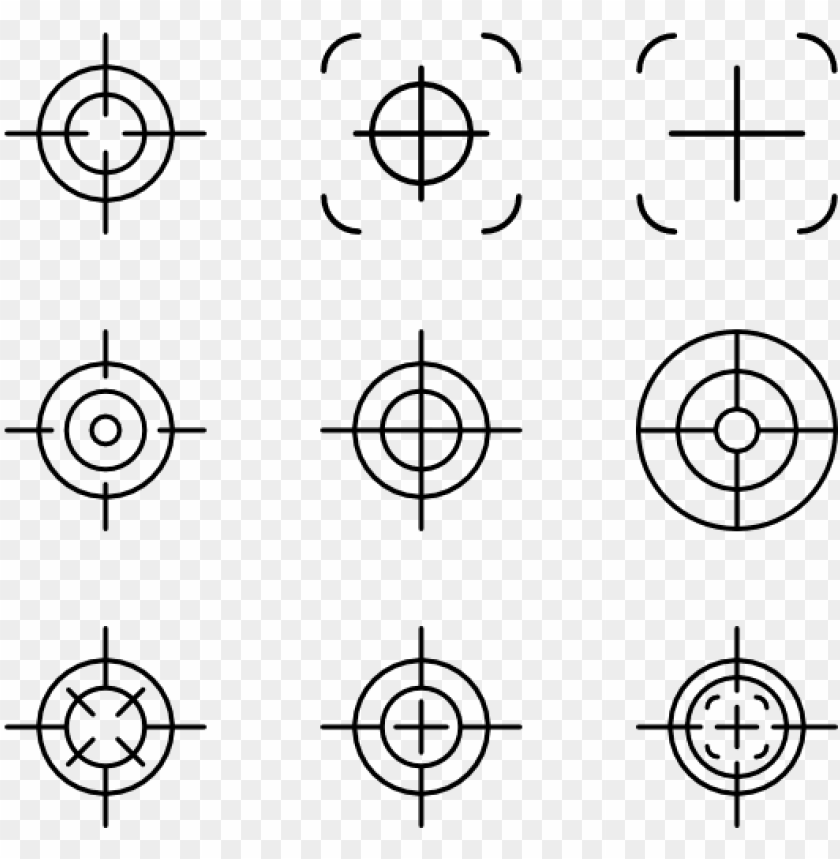 Crosshair Sniper Target Png Image With Transparent Background