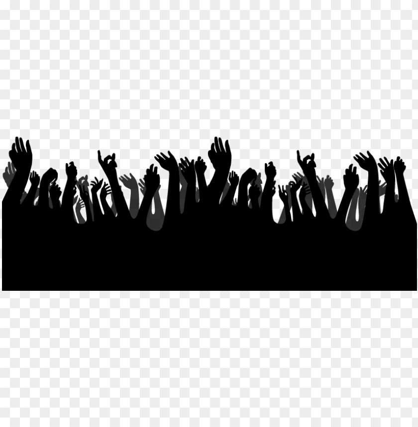 free PNG crowd hands clipart graphic transparent - hands up silhouette PNG image with transparent background PNG images transparent