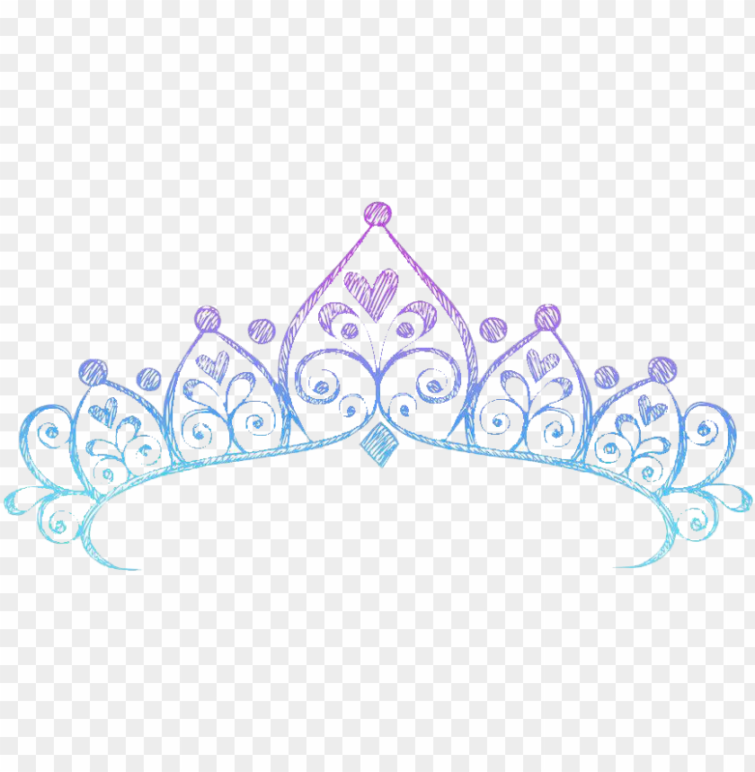 free PNG crown tiara drawing princess - drawing of a princess crow PNG image with transparent background PNG images transparent