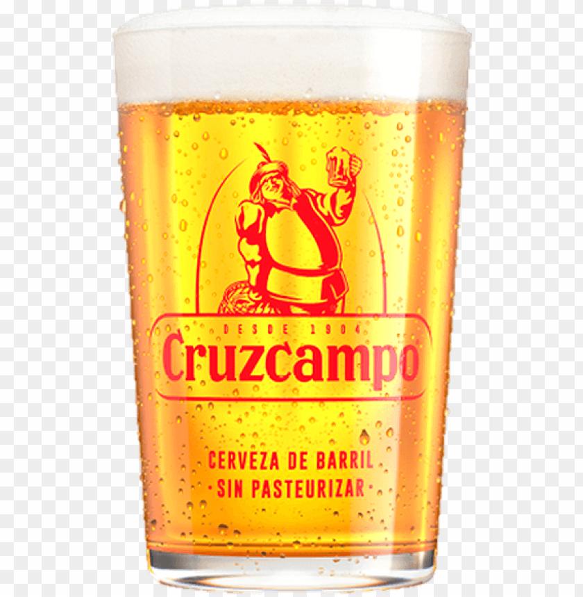 free PNG cruzcampo glasses - vaso de cerveza cruzcampo PNG image with transparent background PNG images transparent