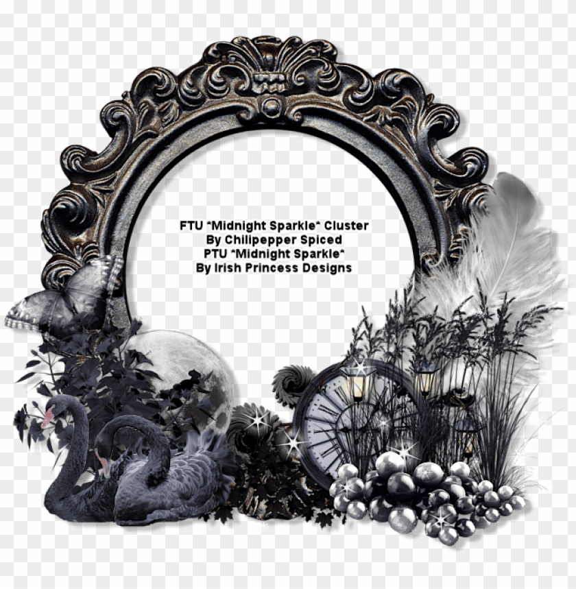 free PNG ct ftu *midnight sparkle* cluster borders and frames, - halloween cluster frame ftu PNG image with transparent background PNG images transparent