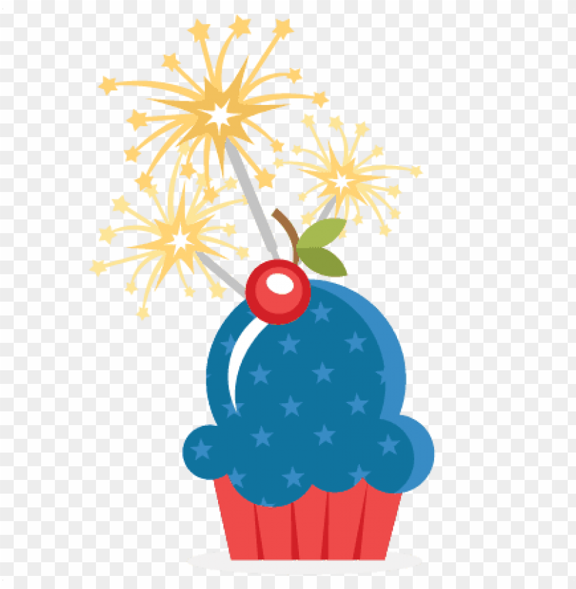 free PNG cupcake clipart july 4th - 4th of july cupcake PNG image with transparent background PNG images transparent