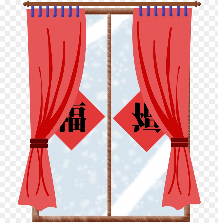 free PNG curtain red blessing chinese style png and psd - curtai PNG image with transparent background PNG images transparent