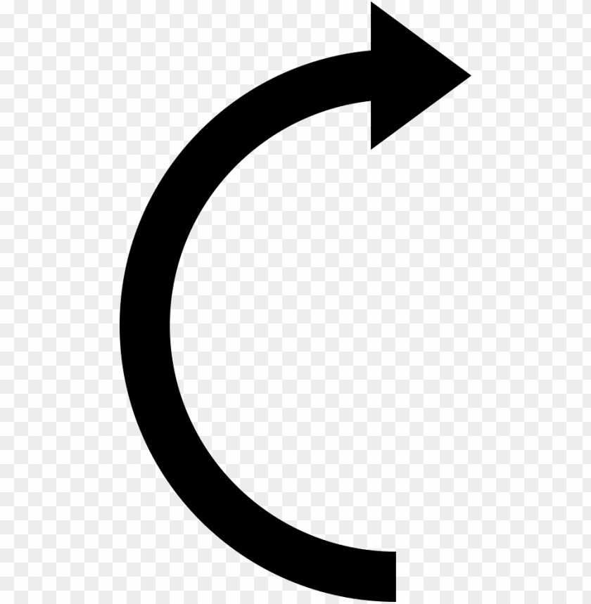 Curved Arrow Icon Png Image With Transparent Background Toppng