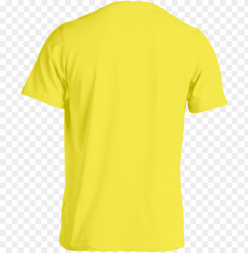 free PNG custom tee template yellow back - yellow t shirt front and back template PNG image with transparent background PNG images transparent