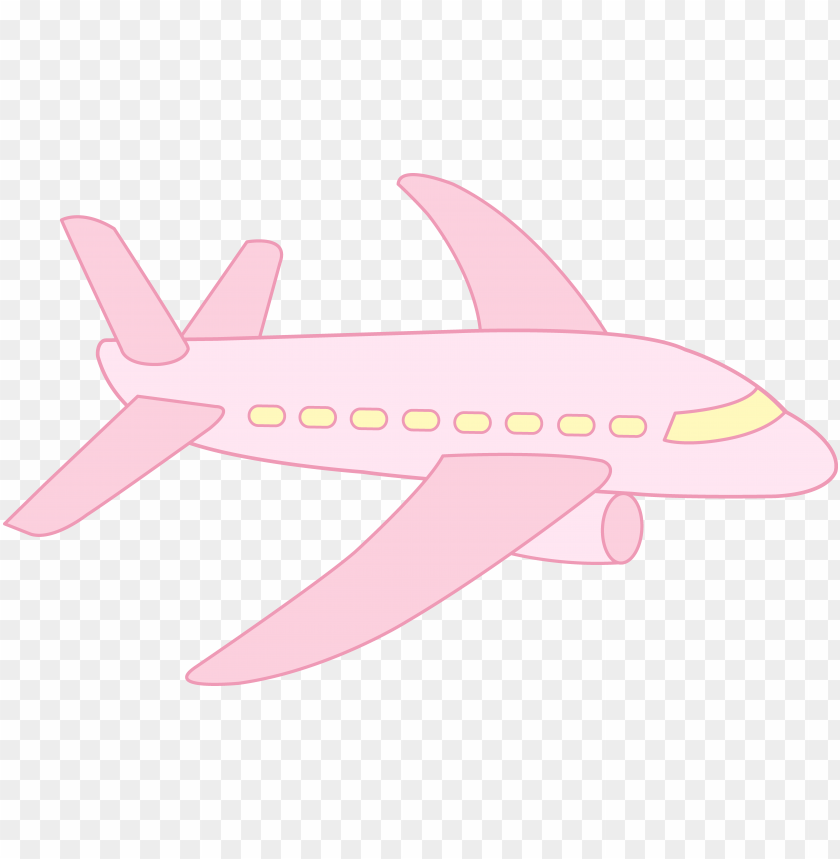 Cute Airplane Pink Airplane Clipart Png Image With Transparent