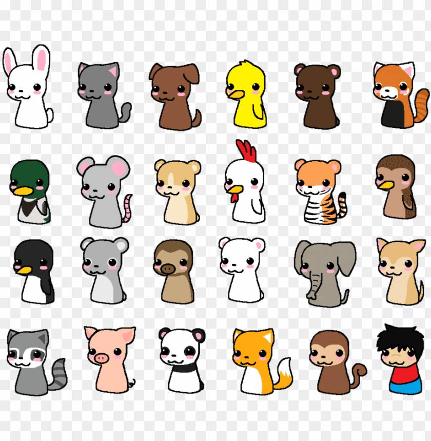 Cute Chibi Animals Cute Chibi Animal Drawings Png Image With Transparent Background Toppng